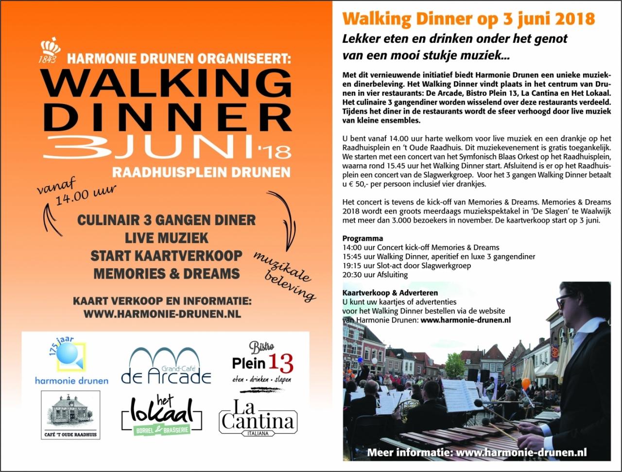 Walking-Dinner klik hier voor de bestelpagina!